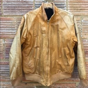Street Style Leather Distressed Jacket Large